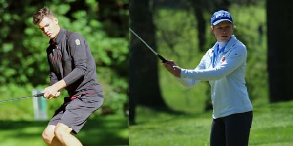 Lukas Buller vom Frankfurter Golf Club und die amtierende Deutsche Meisterin Paula Kirner sind bei den DLM mit von der Partie. (Fotos: DGV/stebl)