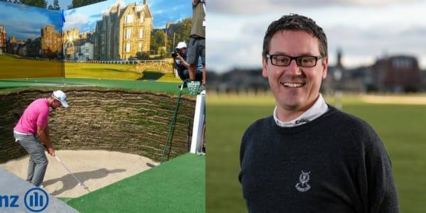 Die Golf Post Community trifft sich täglich um 13 Uhr am Allianz Stand bei der BMW International Open und feuert die Teilnehmer der Beat the Pro Challenge an. (Foto: Allianz)