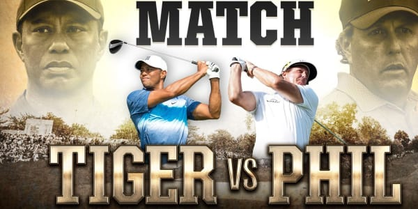 Showmatch Tiger Woods Phil Mickelson Thanksgiving 2018