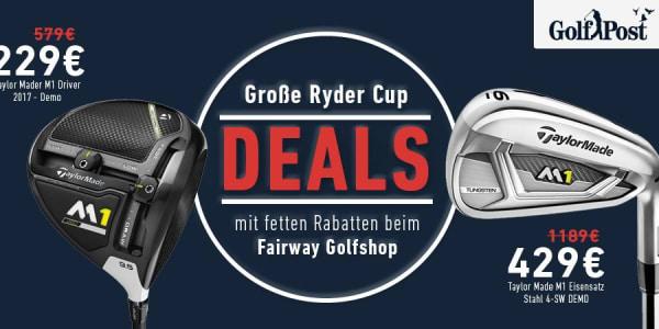 Ryder Cup Angebote beim Fairway Golfshop (Foto: Golf Post)