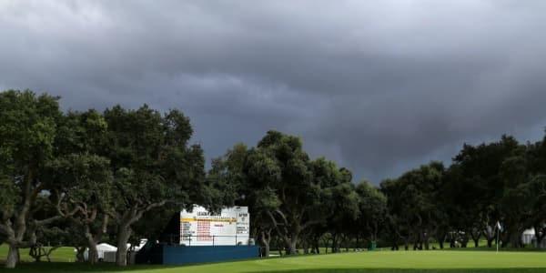 Wegen anhaltender Gewitter musste die dritte Runde des Valderrama Masters auf der European Tour abgebrochen werden. (Foto: Getty)