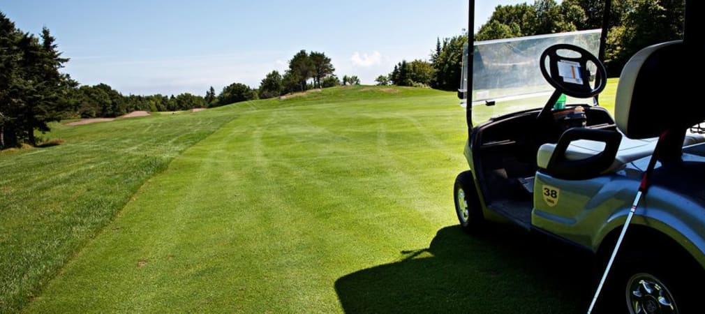Golfschwung in der Golfreise