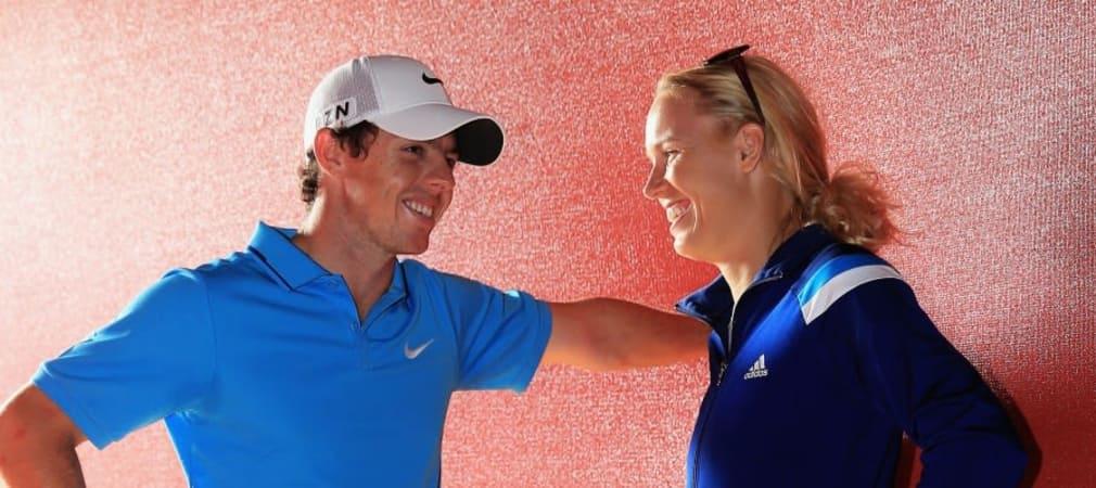 Rory McIlroy mit seiner Freundin Caroline Wozniacki