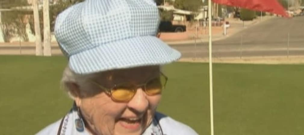 Diese junge Dame hat vor kurzem ihr drittes Hole-in-One geschlagen! Fran Thomas ist wohlgemerkt schon 92 Jahre alt. (Foto: www.alabamas13.com)