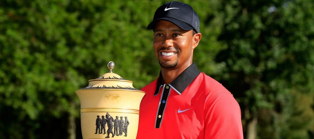 Glücklicher Gewinner Tiger Woods