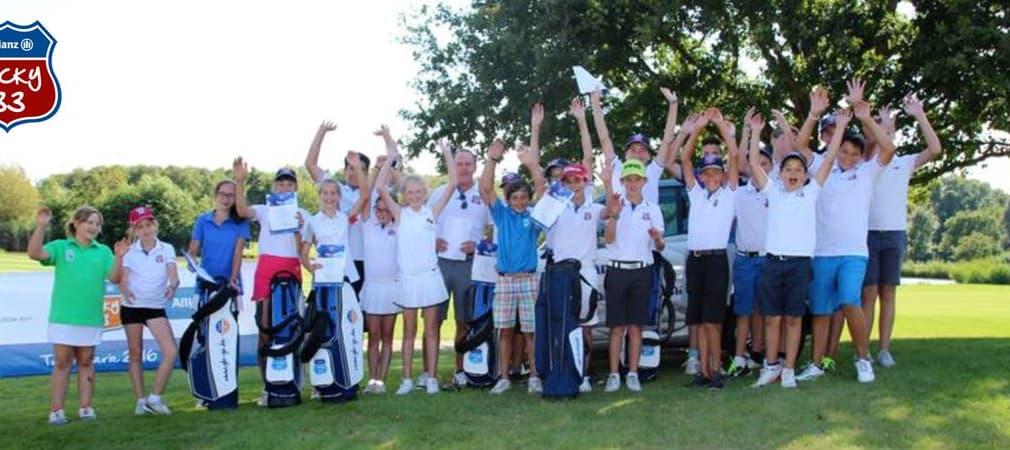 Das Lucky33 Qualifikationsturnier im Golf Club St. Leon-Rot: Die Teilnehmer/innen waren bester Laune. (Foto: Lucky33/Allianz)