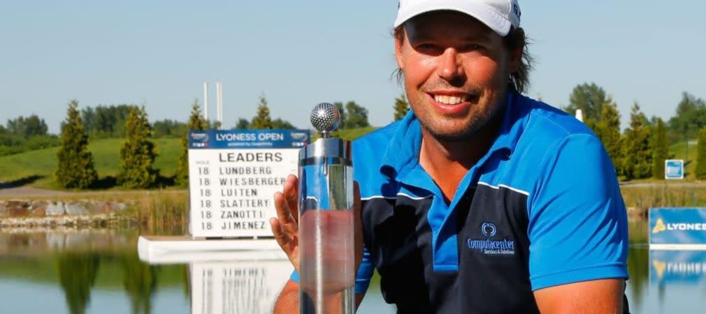 Der Schwede Mikael Lundberg setzte sich am ersten Extraloch gegen Bernd Wiesberger durch und holte sich den Sieg bei der Lyoness Open