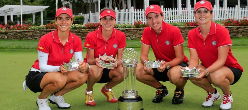 Spanien, mit Azahara Munoz, Belen Mozo, Carlota Ciganda und Beatriz Recari (v. l.), sicherte sich den Titel bei der erstmals ausgetragenen International Crown.