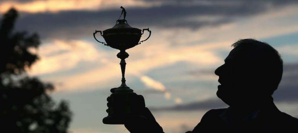 Paul McGinley präsentiert den Ryder Cup. (Foto: Getty)