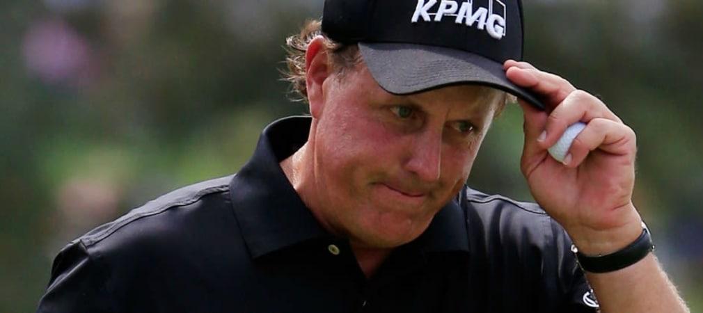Phil Mickelson beklagt wie viele andere Spieler, dass Augusta National 2015 bislang zu leicht ist.