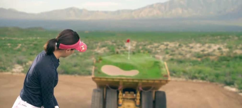 Caterpillar will mit einem Golfwerbespot die neuen Modelle des Herstellers präsentieren. (Foto: Youtube)