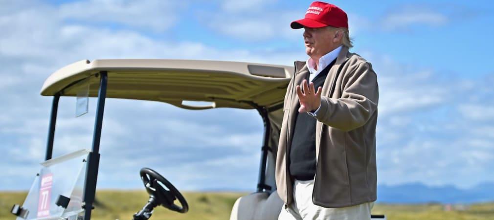 Der Präsidentschafts-Kanditdat der Republikaner Donald Trump während eines Besuchs seines schottischen Golfkurses Turnberry (Foto: Getty)