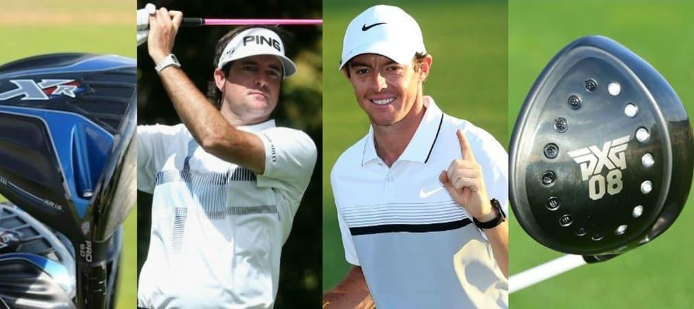Jedes Jahr verpflichten Hersteller neue Spieler. Diesmal will auch Neuling PXG mitmischen. (Fotos: Bild1: Golf Post; Bild 2 und 3: Getty; Bild 4: MyGolfSpy.com)