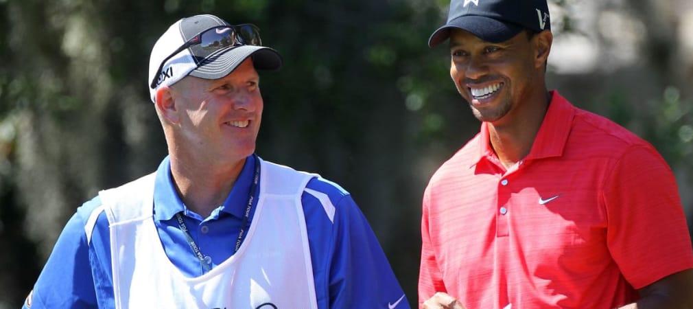Joe LaCava (li.) mit Tiger Woods beim Arnold Palmer Invitational 2012. (Foto: Getty)
