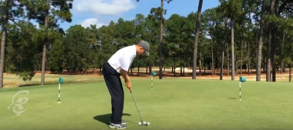 Kelly Mitchum ist PGA Pro und Golf-Trainer bei der Pinehurst Golf Academy und begnadeter Putt-Spieler. (Foto: Screenshot)
