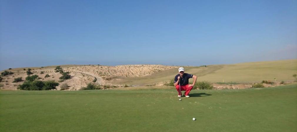Moritz Klawitter war mit seinen kurzen bis mittleren Putts bei der Open Trazegzout in Agadir, Marokko zufrieden. (Foto: Moritz Klawitter)