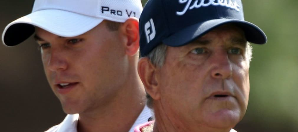 Bill Haas (l.), sein Vater Jay (r.) und zwei weitere Verwandte stehen wie keine andere Familie für die Tradition beim Masters. (Foto: Getty)