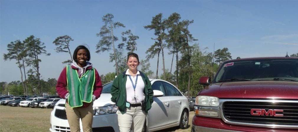 Parkwächter Keisha Whitaker und Kara Lamberth. (Foto: Golf Post)