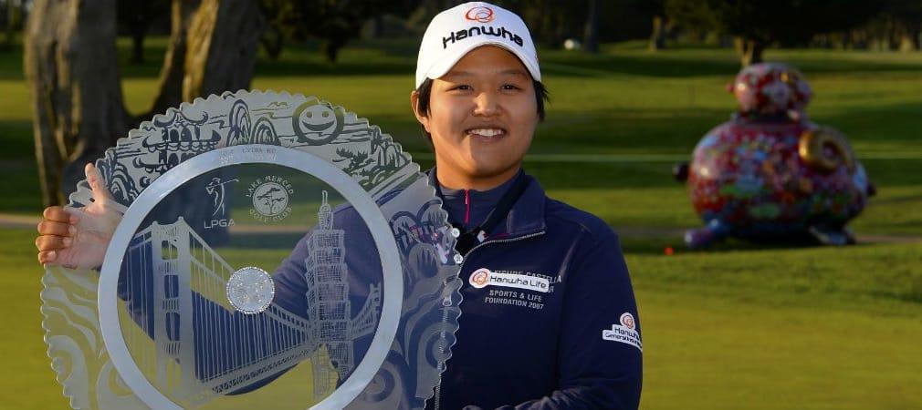 Die Japanerin Haru Nomura konnte sich am windigen Finaltag den Titel bei der Swinging Skirts LPGA Classic sichern. (Foro: Getty)
