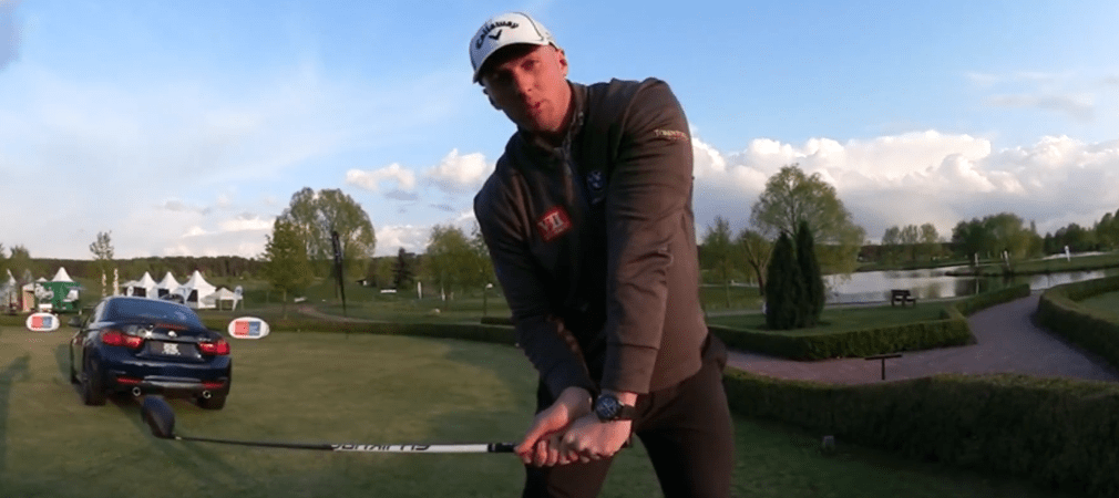Long Drive Champion Joe Miller gibt Tipps. (Foto: Screenshot_Youtube@Golfpost)
