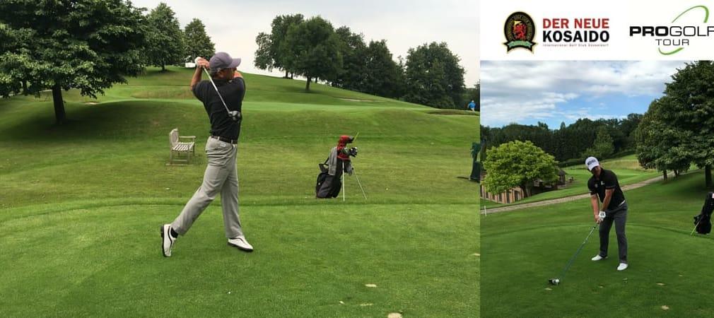 Bei der Pro Golf Tour gehen die Golfstars von morgen an den Start. hier zu sehen: Clemens Prader und Benjamin Wuttke. (Foto: Kosaido International Golfclub Düsseldorf)
