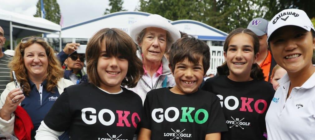 Lydia Ko (rechts) mit ihren Fans bei der Women's PGA Championship. (Foto: Getty)