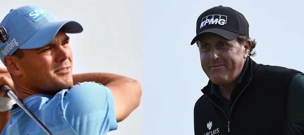 Martin Kaymer und Phil Mickelson ganz oben nach der ersten Runde der Open Championship. (Foto: Getty)