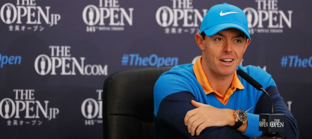 Rory McIlroy fordert bei seiner Pressekonferenz in Roayal Troon Bluttest für Golfer. (Foto: Getty)