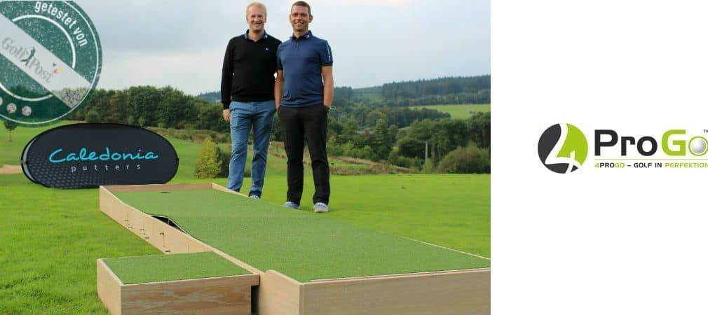 Die beiden Gesichter hinter der 4ProGo Puttmatte - Christian Rudolph und Enrico Begerow. (Foto: Golf Post/4ProGO)
