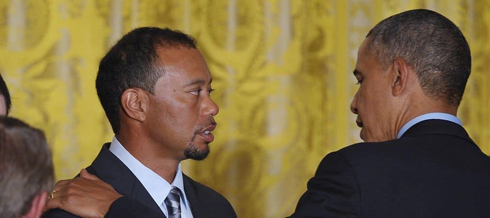 Barack Obama Tiger Woods Golf