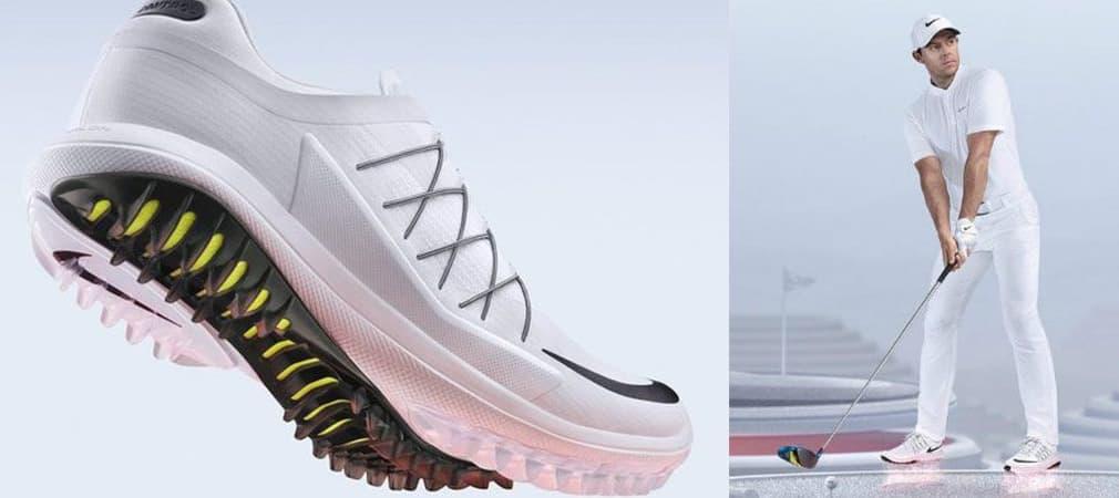Nike präsentiert gemeinsam mit Rory McIlroy im Rahmen des WGC HSBC Champions in China den neuen Lunar Control Vapor Golfschuh. (Foto: news.nike.com)