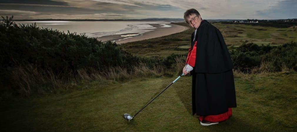 Susan Brown macht die Golfrunde zu einem