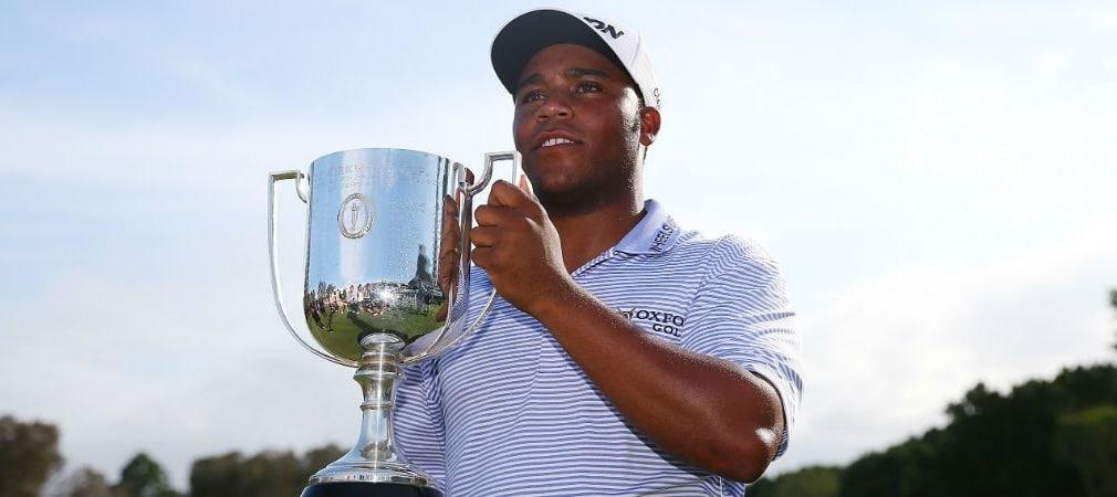 Glücklicher Sieger. Harold Varner III gewinnt bei der Australian PGA Championship sein erstes Profiturnier. (Foto: Getty)