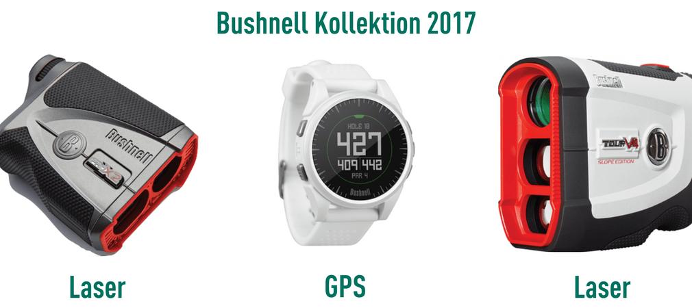 Bushnell bietet in seiner neuen Kollektion für 2017 drei Entfernungsmesser an. Zwei Laser und eine GPS-Uhr, die mit neuen Technologien überzeugen wollen. (Foto: Bushnell)