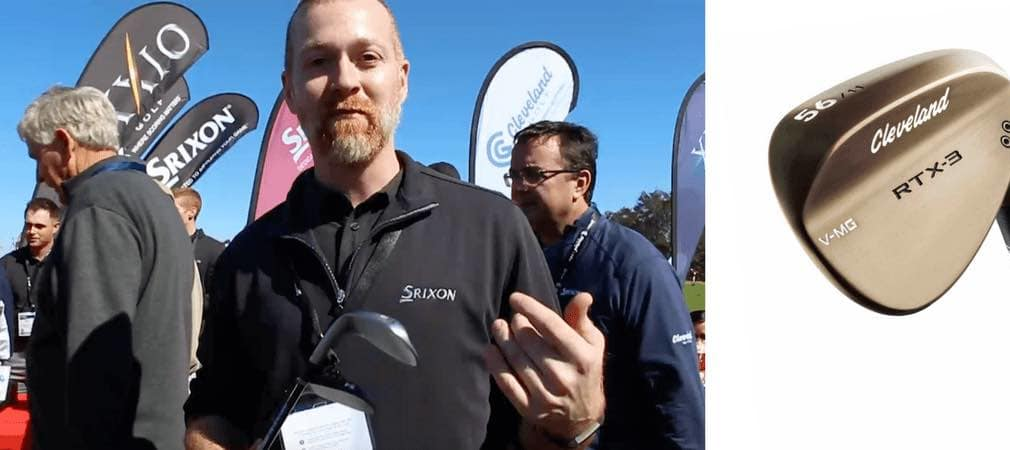 Der Chefentwickler von Srixon/Cleveland, John Rae stand Golf Post auf der PGA Show in Orlando Rede und Antwort und stellte die neuen RTX 3 Raw Wedges vor. (Foto: Golf Post/Cleveland)