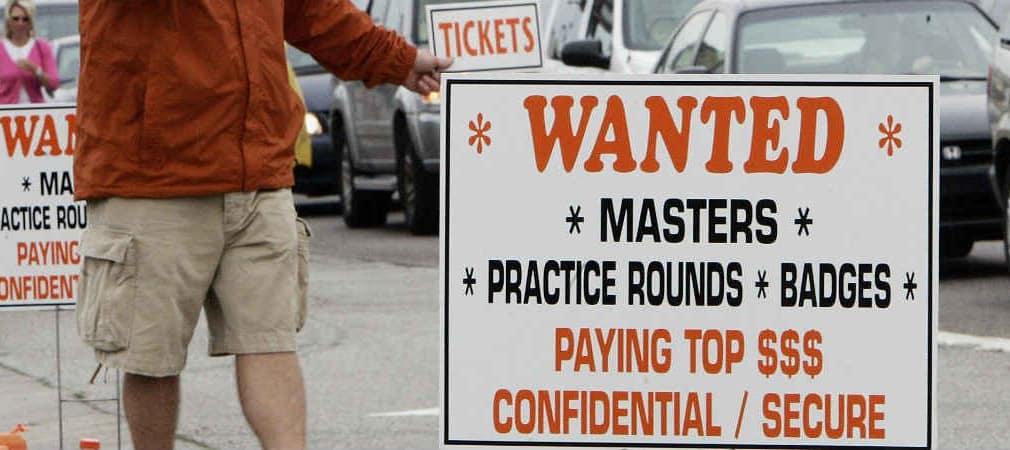 Die Tickets für das Masters in Augusta sind wie jedes Jahr so begehrt, dass extreme Preise aufgerufen werden.