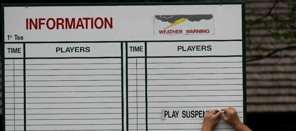 Traurig aber wahr! Der berühmte Par-3-Contest beim masters musste aufgrund des Wetters abgebrochen werden. (Foto: Getty)