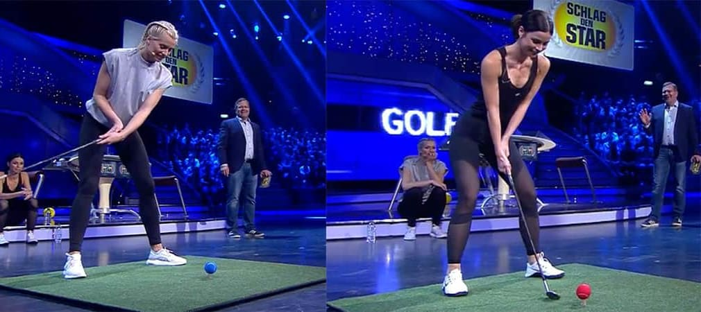 Golf-Darts bei Schlag den Star Lena Gercke vs. Lena Meyer-Landrut