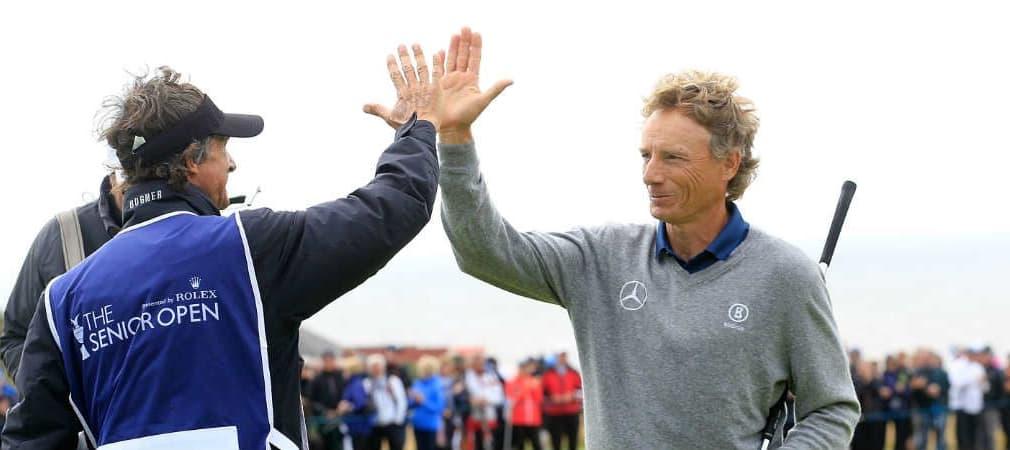 Bernhard Langer feiert seinen 10. Majorsieg. Im Golf Post Talk werden diese und andere Ereignisse ausführlich diskutiert und analysiert. (Foto: Getty)