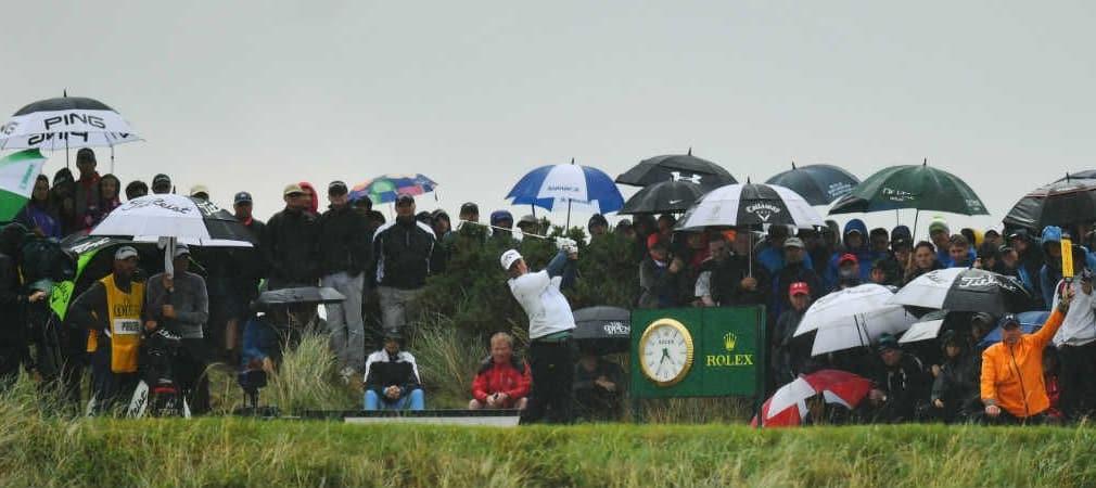 Am zweiten Tag der British Open 2017 hatten die Spieler mit Wind und Wetter zu kämpfen. (Foto: Getty)
