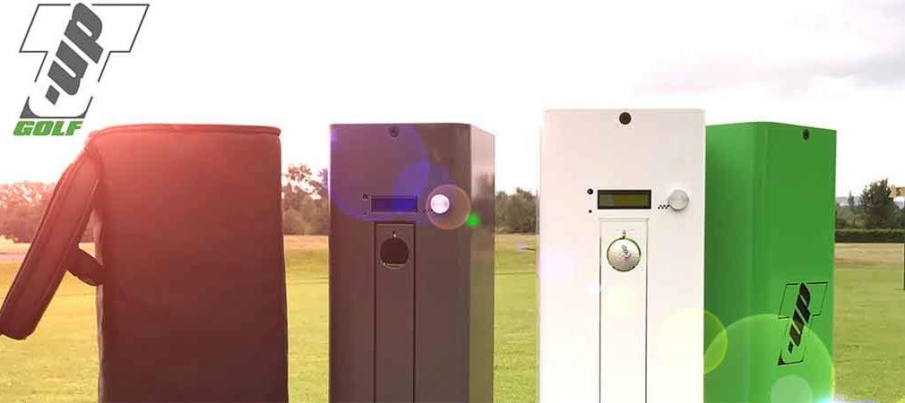 Der T-Up Mk1 legt Ihnen Bälle auf der Range, dem Grün oder einem Tee ab. (Foto: T-Up)