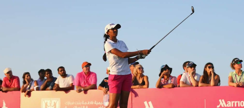Aditi Ashok gewinnt die Fatima Bint Mubarak ladies Open in Abu Dhabi. (Foto: Getty)