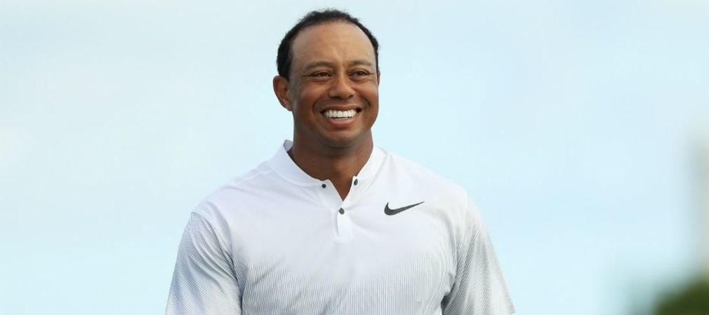 Tiger Woods strahlt nach der zweiten Runde der Hero World Challenge. (Foto: Getty)