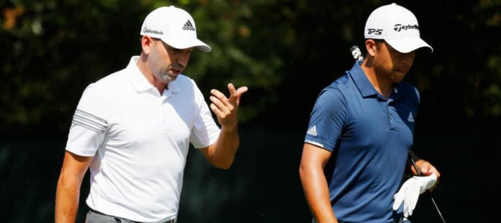 Sergio Garcia (links) und Xander Schauffele (rechts) verlängern beide ihre Verträge mit Adidas. (Foto: Getty)
