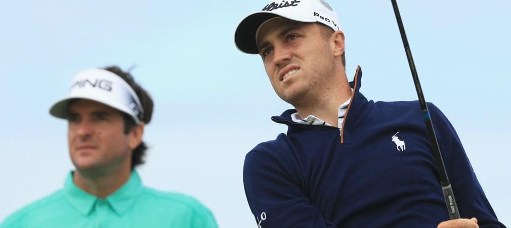 Auf dem Weg zur Nummer 1 der Welt muss Justin Thomas bei der World Golf Championship an Bubba Watson vorbei. (Foto: Getty)