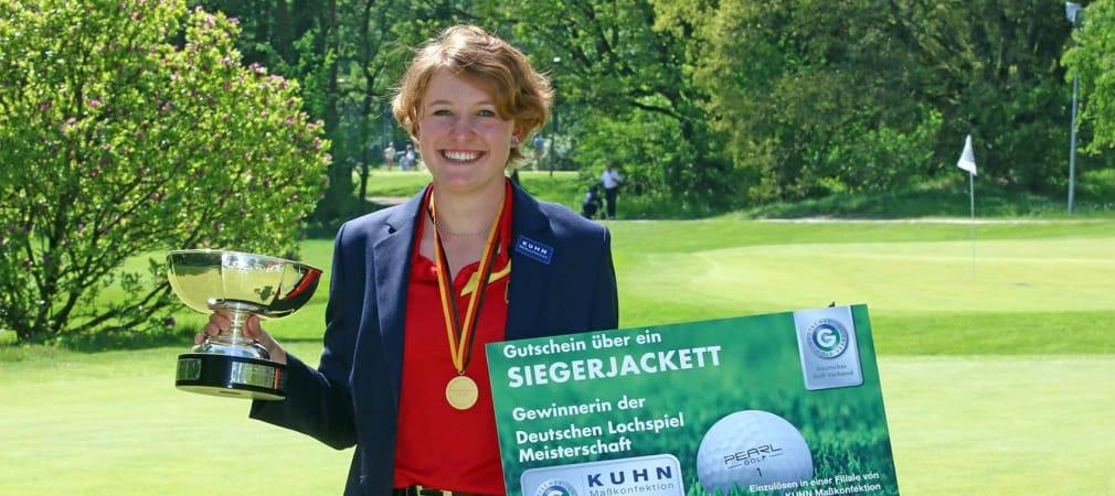 Paula Kirner hat ihren Titel bei den Deutschen Lochspielmeisterschaften in Frankfurt erfolgreich verteidigt. (Foto: DGV Presse)