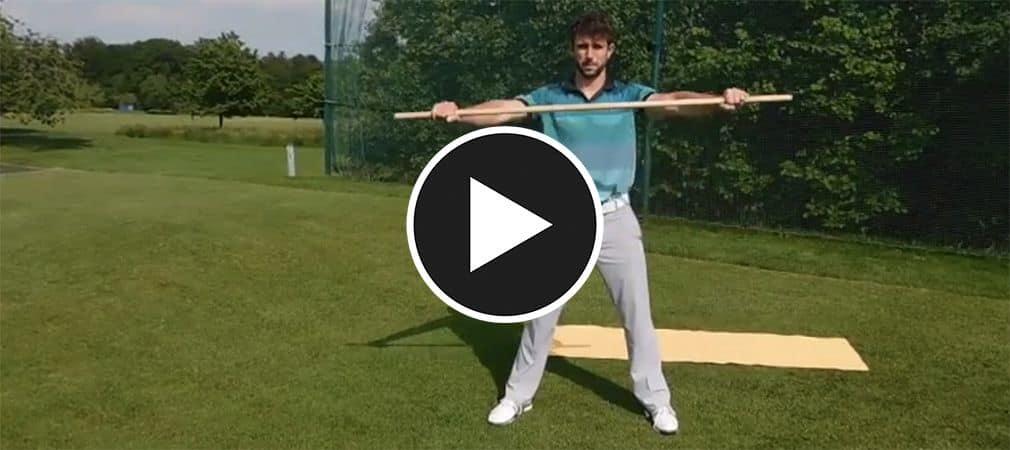 Robin Horvath zeigt Ihnen die wichtigsten Beweglichkeitsübungen für Ihr Golftraining. (Foto: Screenshot YouTube).