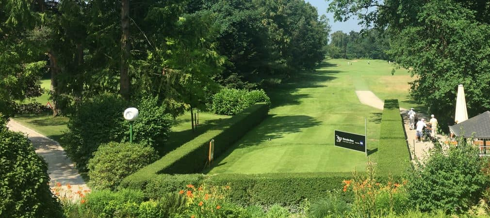 Blick von der Terrasse des Clubhauses im Frankfurter Golfclub (Foto: Golf Post)