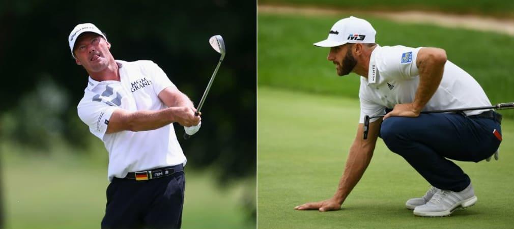 Auf der PGA Tour tut Alex Cejka sich schwer, während Dustin Johnson nach vorne stürmt. (Foto: Getty)