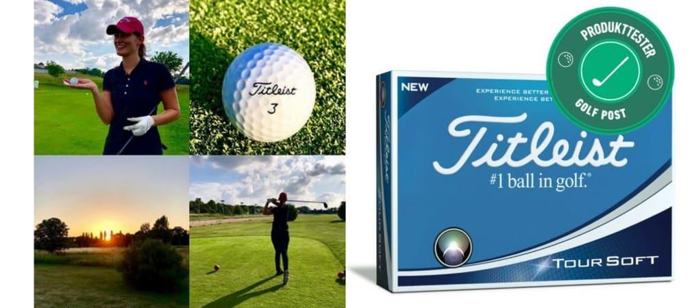 Der Titleist Tour Soft im Produkttest: Wie schneidet der neue Ball ab? (Foto: Christina Kreutzmann und Titleist)